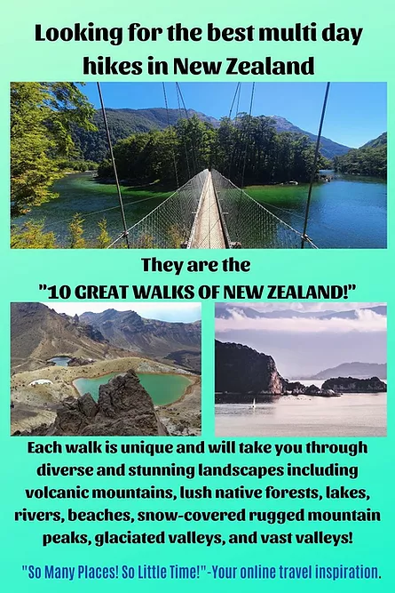 Best Multi Day Hikes In New Zealand So Many Places So Little Time In 2021 New Zealand Travel Guide Oceania Travel Island Travel
