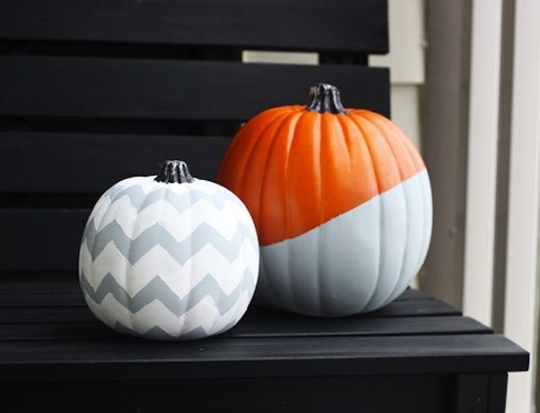 Halloween Decor LOVE the sophisticated chevron!! ~Carly Holiday - halloween decor images