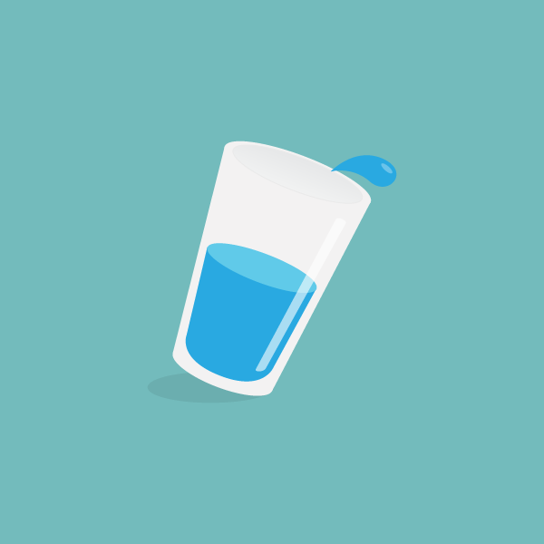 Cup Spill Vector Graphic Water Illustration Cup Vector Illustration