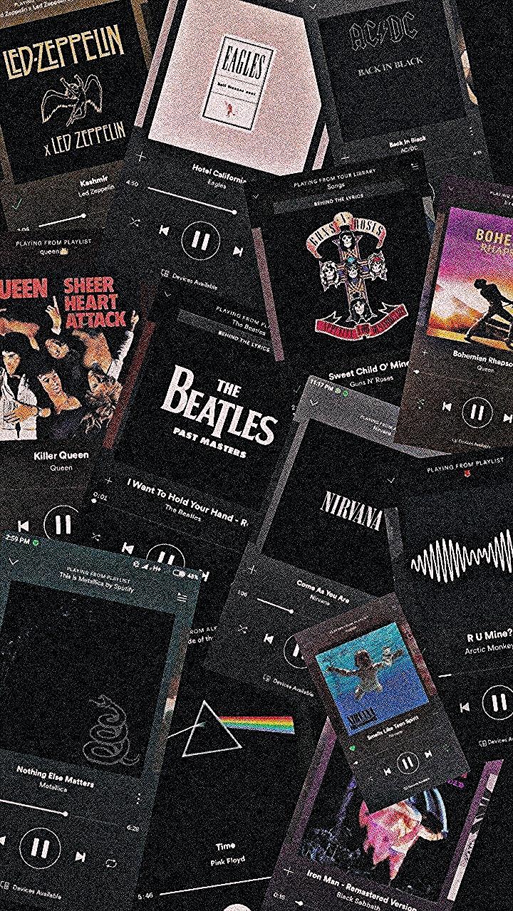 Led Zeppelin Nirvana Acdc Arctic Monkeys Guns Roses Beatles Queen Eagles Meta Le In 2020 Aesthetic Iphone Wallpaper Iphone Wallpaper Rock Iphone Wallpaper Vintage