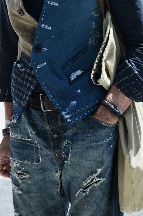 Patchwork/crazy constructed waistcoat.