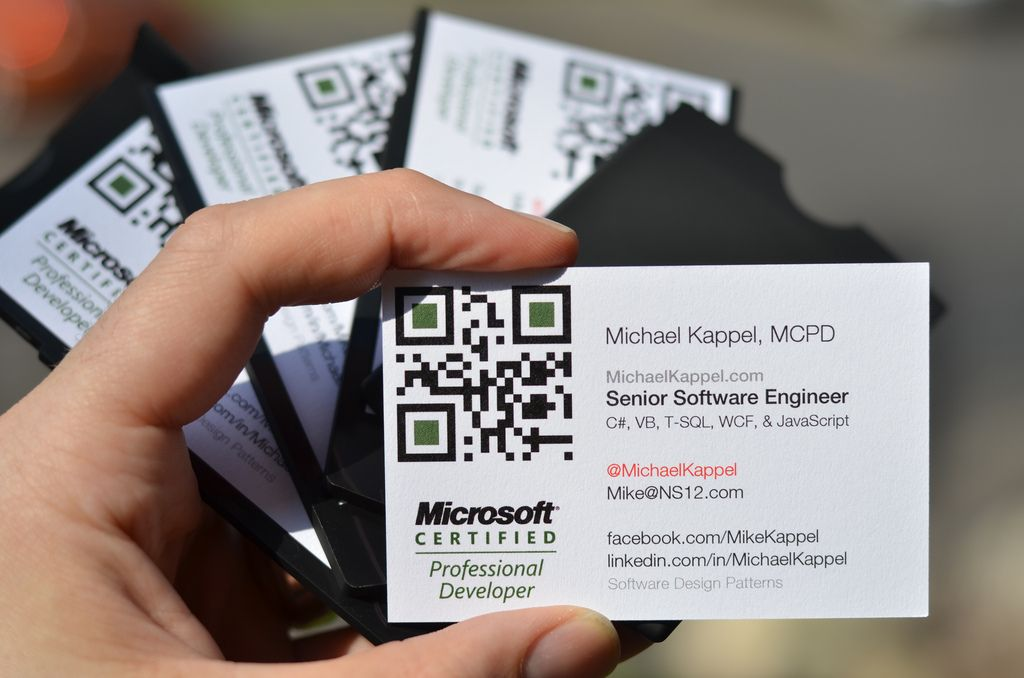Software developer business cards photo by michael kappel