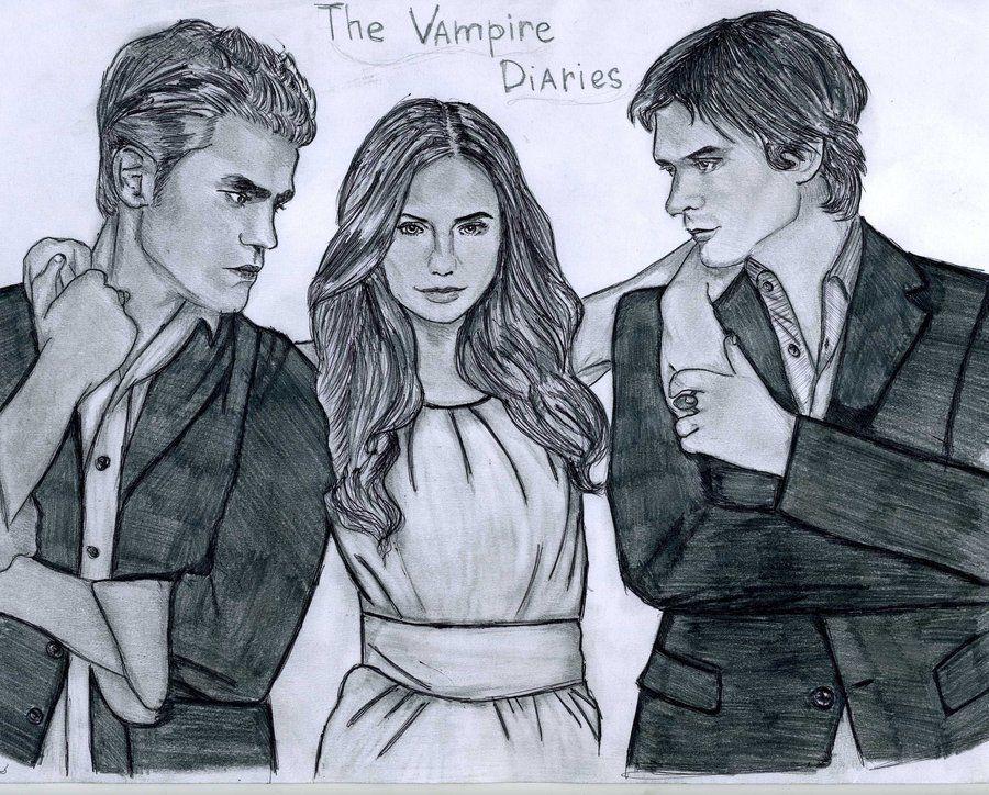 The Vampire Diaries Drawing Com Imagens Vampiro Desenho