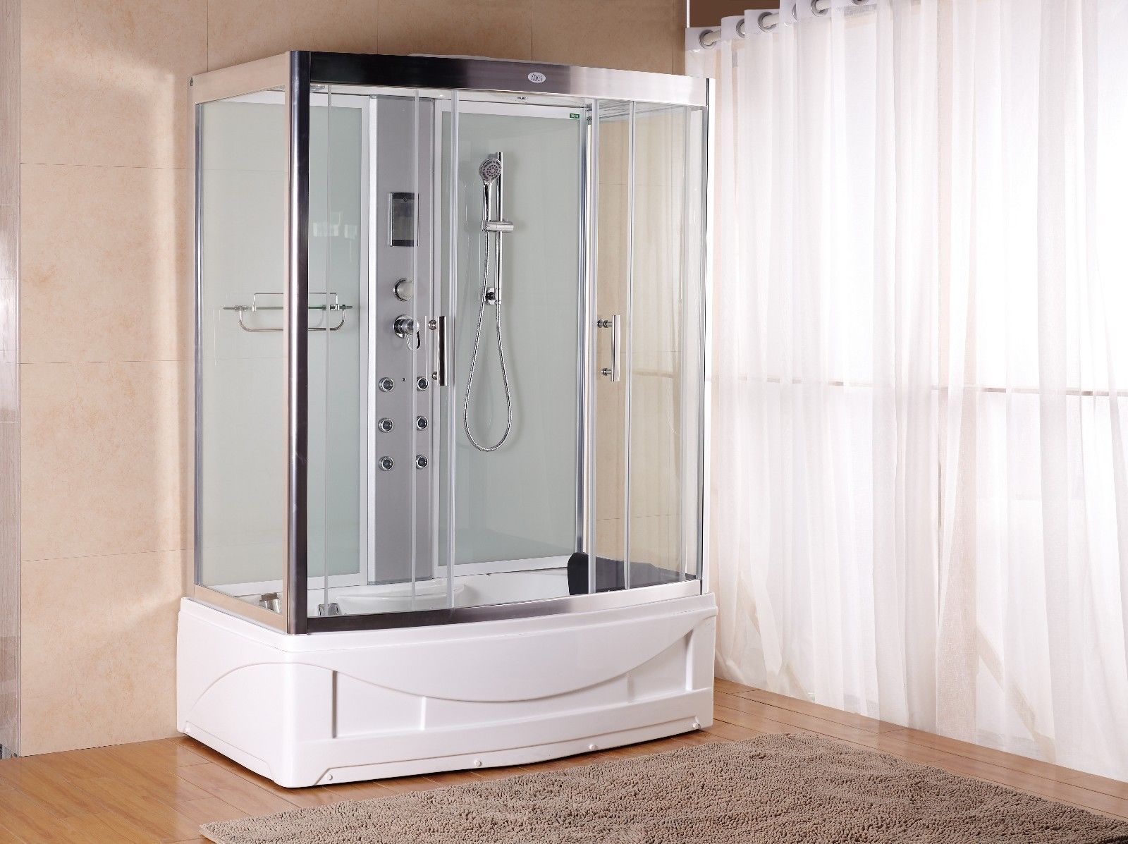 Douche A Jet Massage 1001 Now Luxury Steam Shower Enclosure 9001 Pure White Hydro