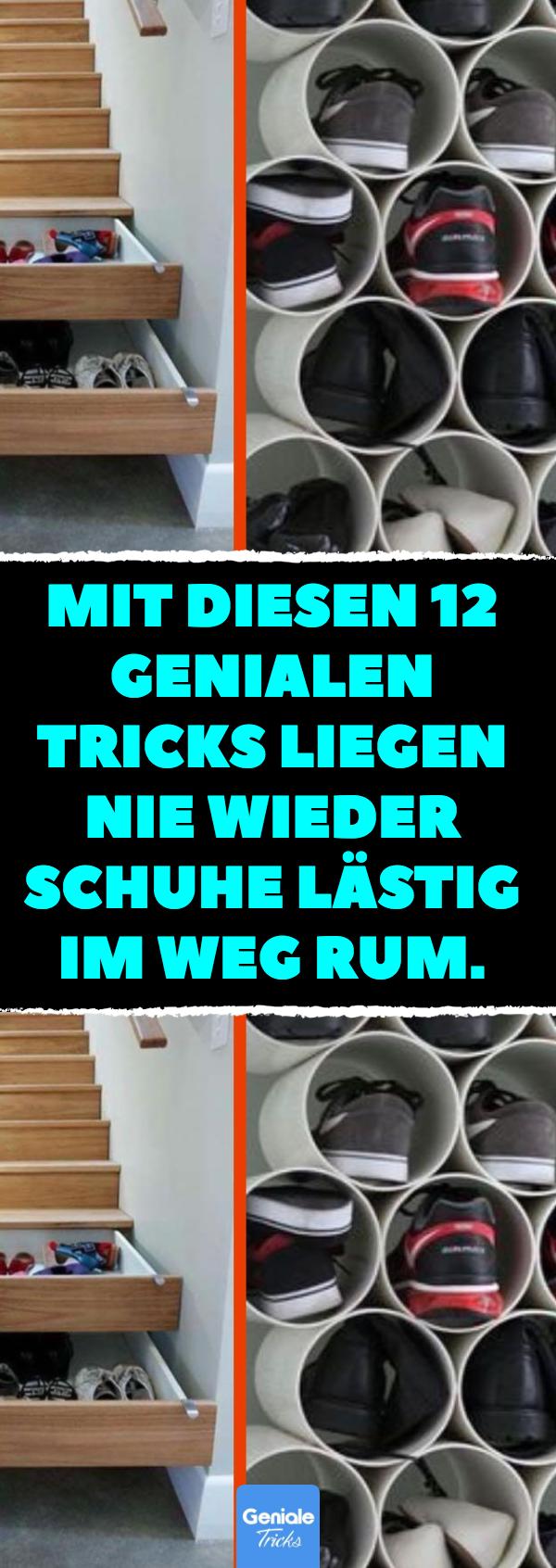 12 Tricks, Schuhe zu verstauen.