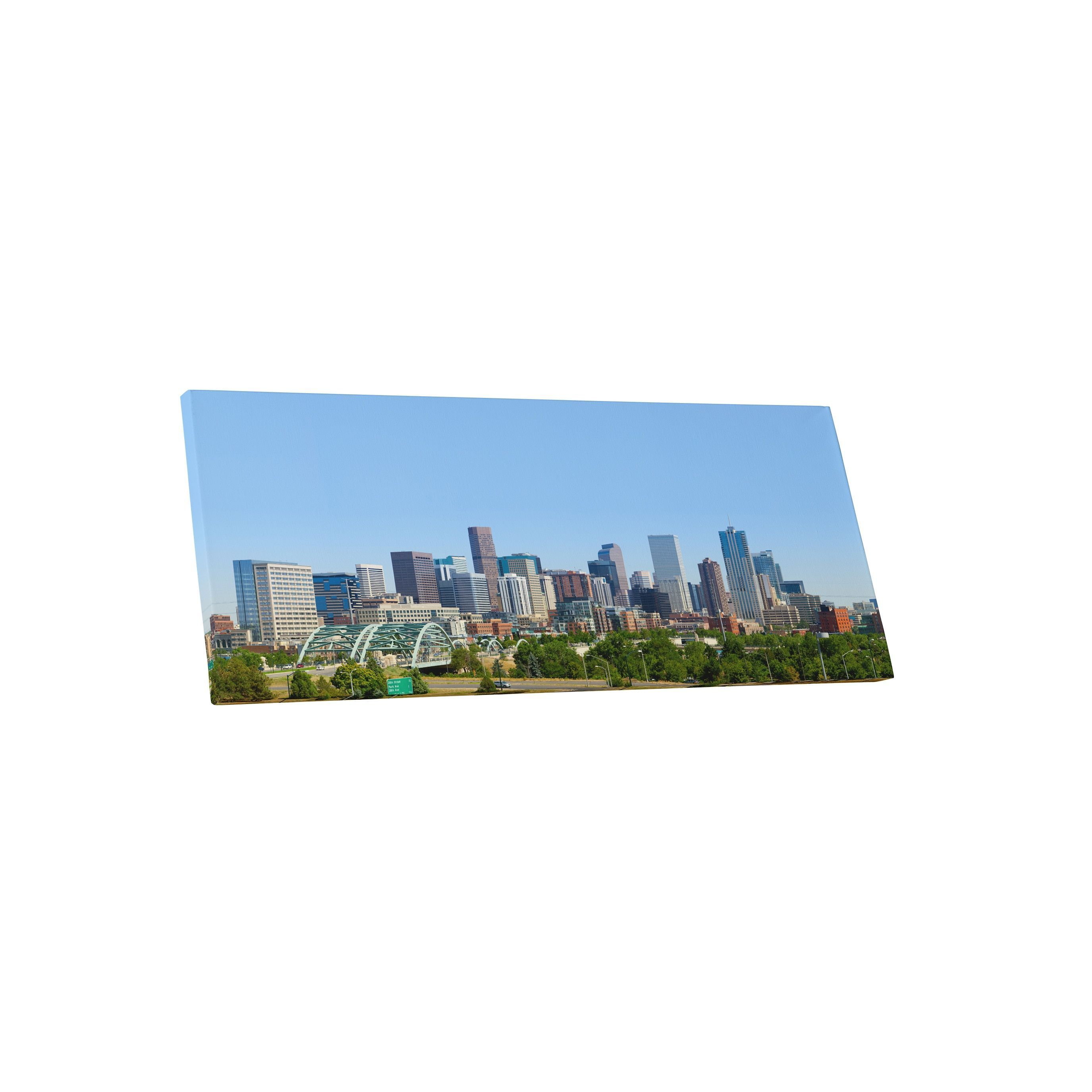 City Skylines 'Denver Colorado' Gallery Wrapped Canvas Wall Art