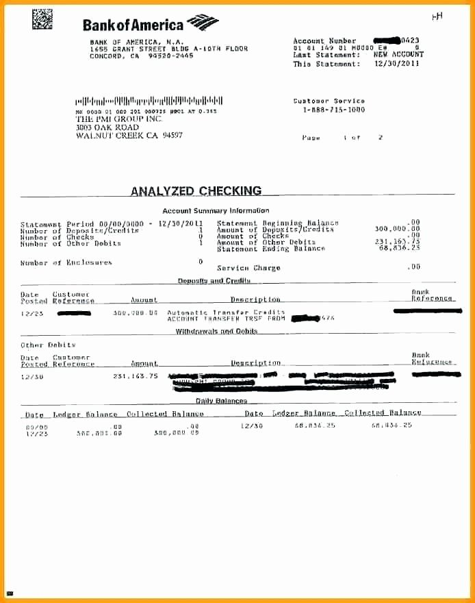50 Lovely Fake Bank Statement Template Download In 2020