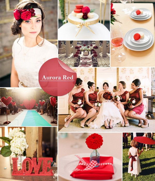 Fall 2014 Wedding Trends Aurora Red A Gorgeous Color For Early Autumn And Late Summer