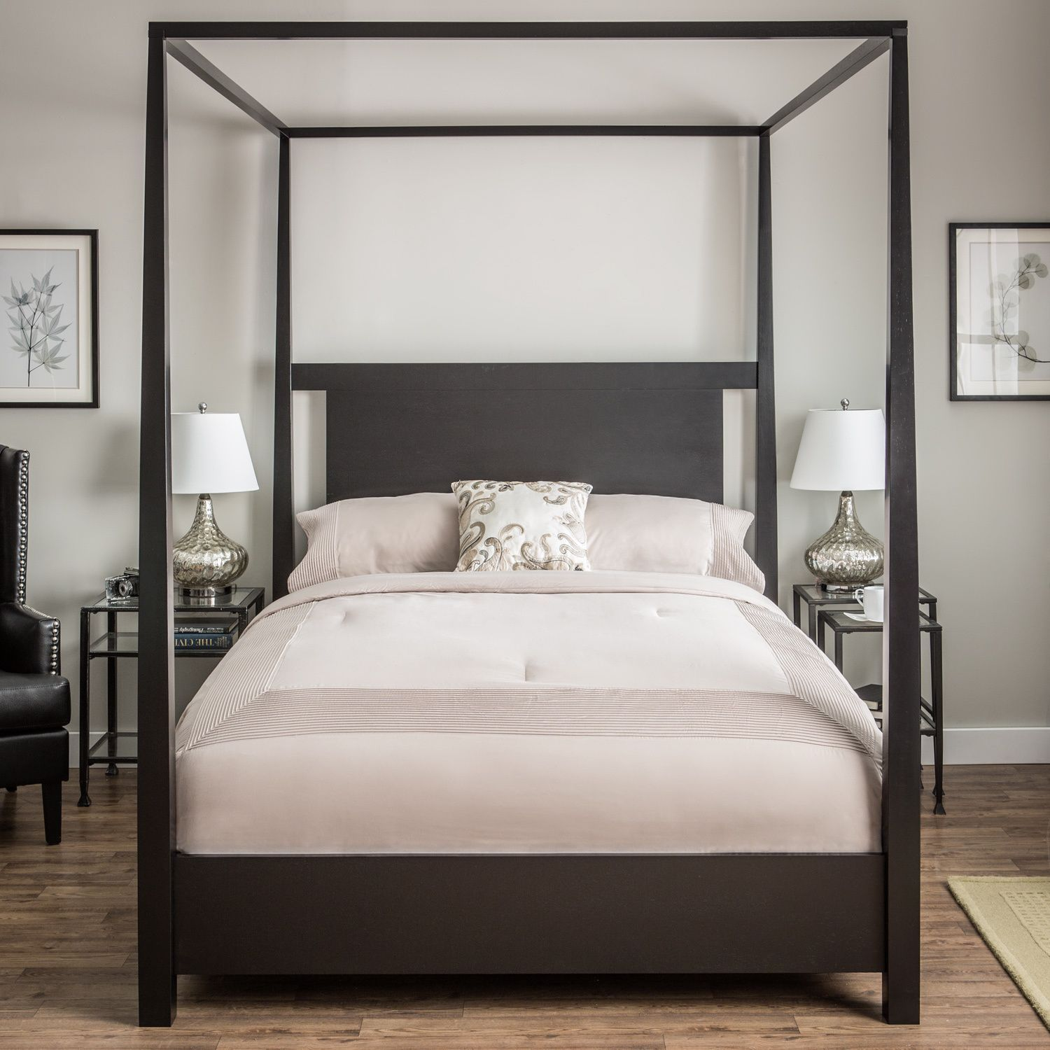 Napa queen size black canopy bed free shipping today overstock com - Shop For Napa Canopy Full Bed Get Free Shipping At Your Online Furniture Outlet Store Get In Rewards With Club O