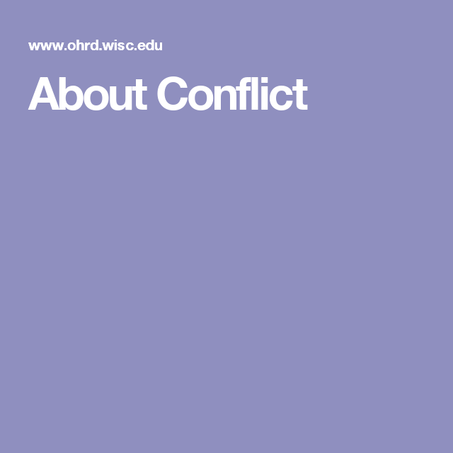 About Conflict