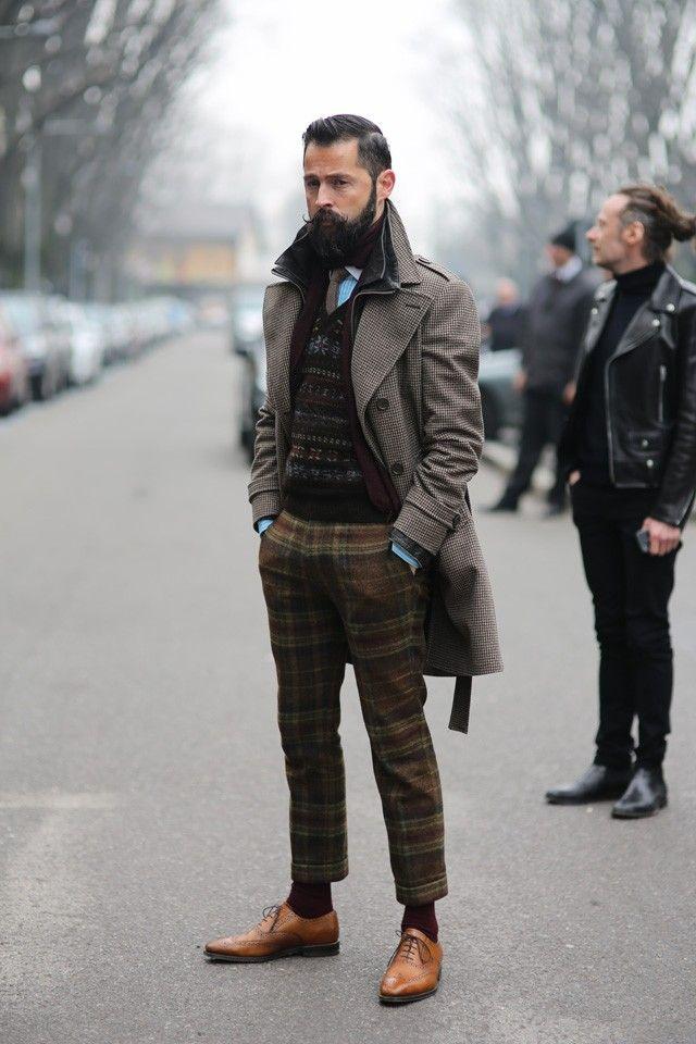 Men's Fall Winter Street Style Fashion..