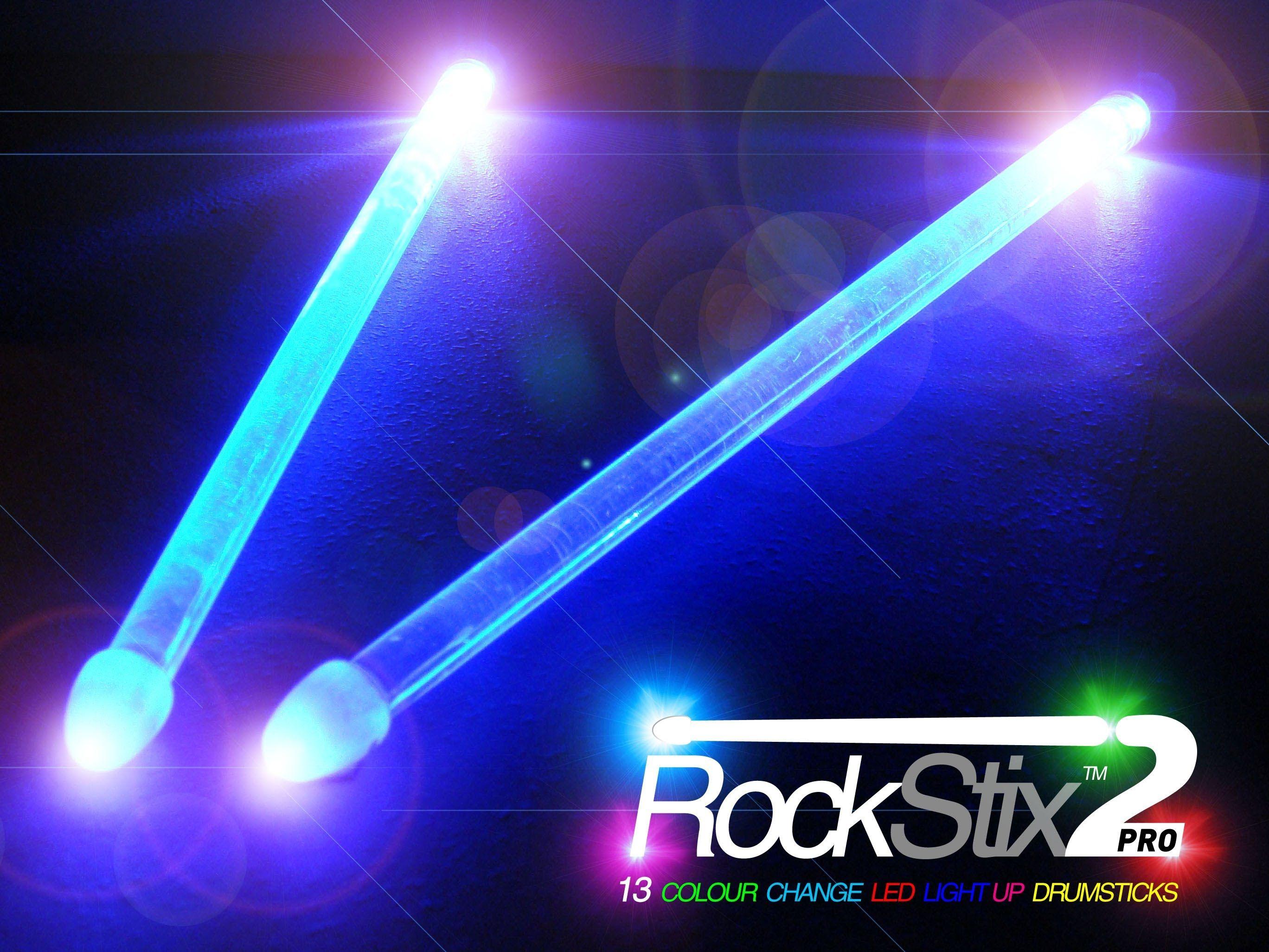 Rockstix 2 Colour Change Led Light Up Drumsticks Color Changing Led Light Up Drumsticks Led Lights