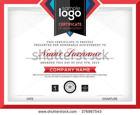 Modern certificate abstract graphic background frame design template - fresh stock certificate template pdf