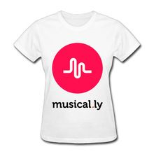 Musical Ly Logo Png T Shirts For Women Harajuku Funny Product Tops Lady Casual Short Sleeve T Shirt Tops Free Shipping Worldwide