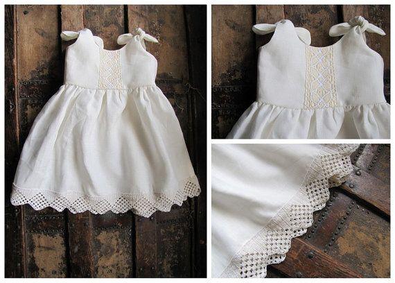 linen christening gown infant