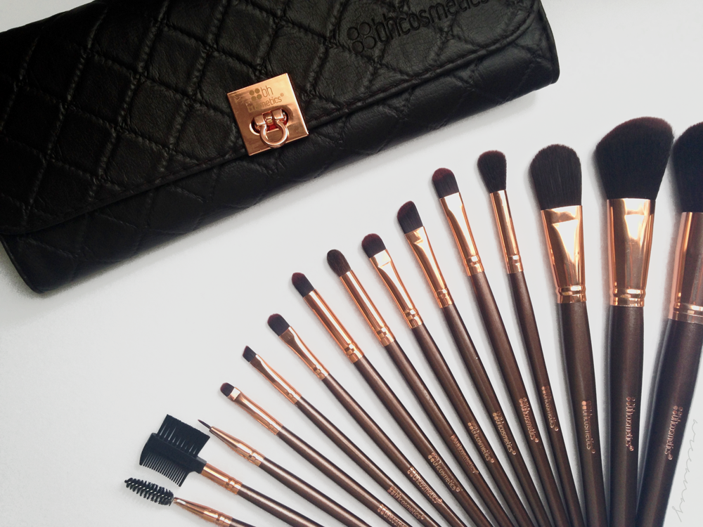BH Cosmetics Rose Gold Brush Set Review Rose gold brush