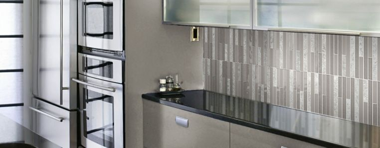 Kitchen Tiles Colour Combination two colour combined feature kitchen tiles with black stone bench