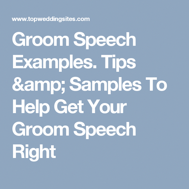 Help Write A Grooms Speech How To Write A Groom Speech In 2019