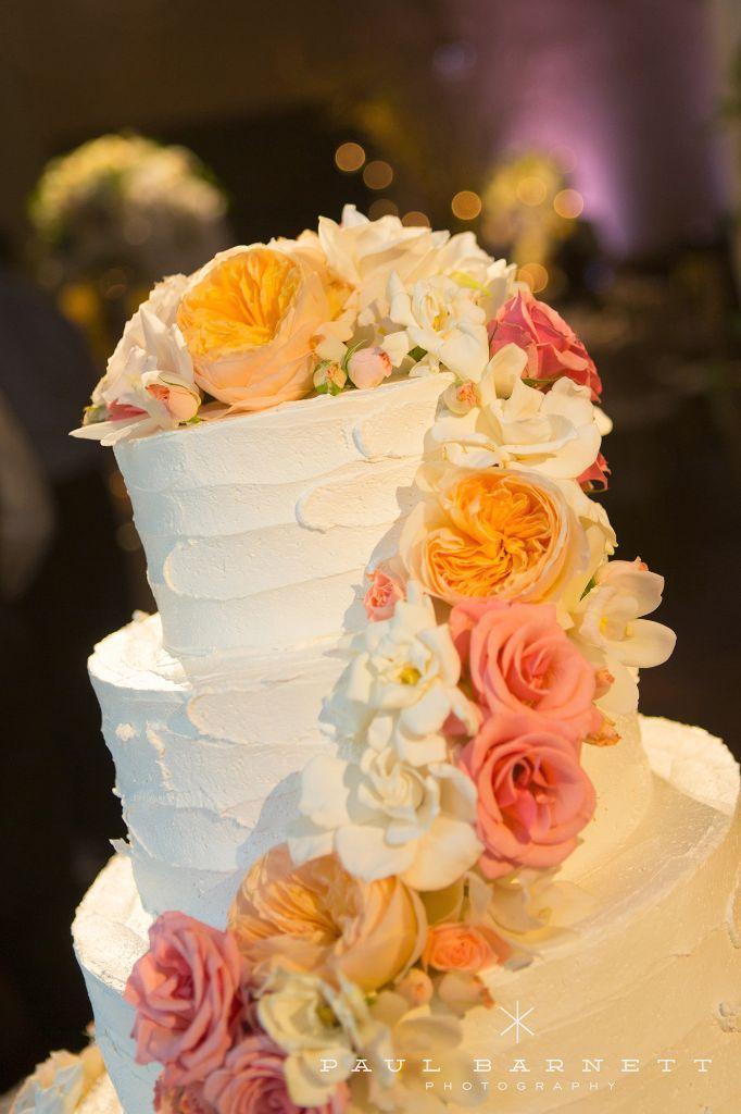 Blush, Cream, white and light orange fresh flowers on white layer ...