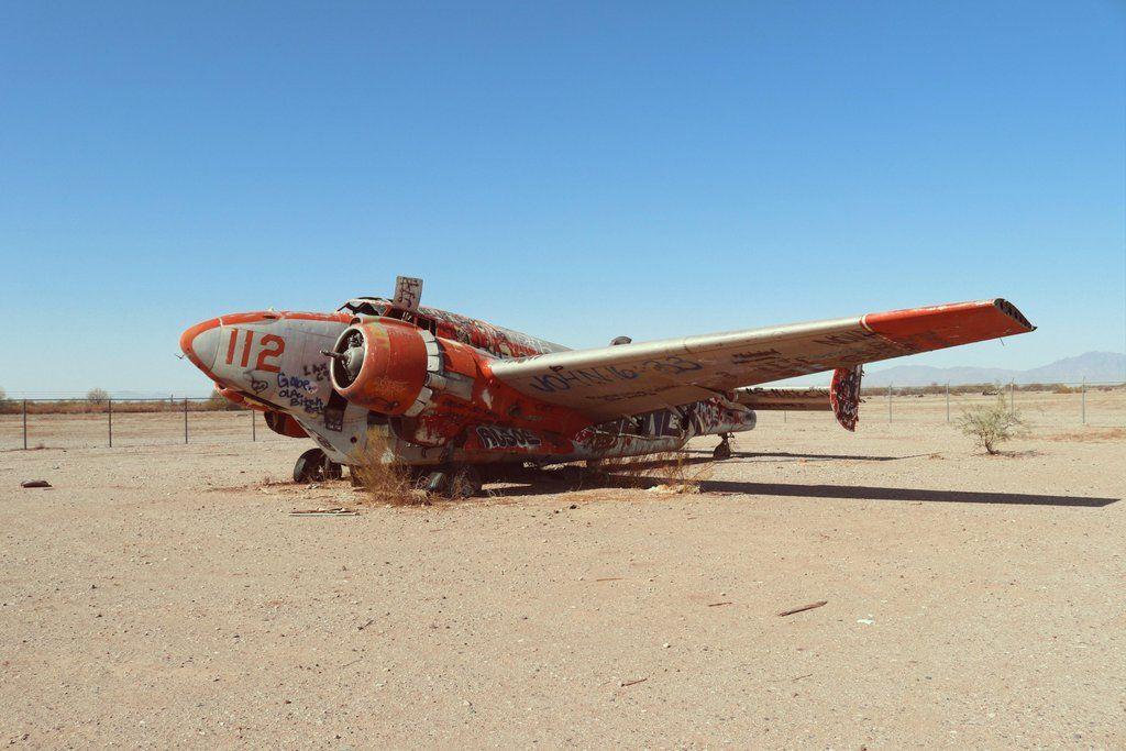 Abandoned Plane in the Desert [OC] urbanexploration