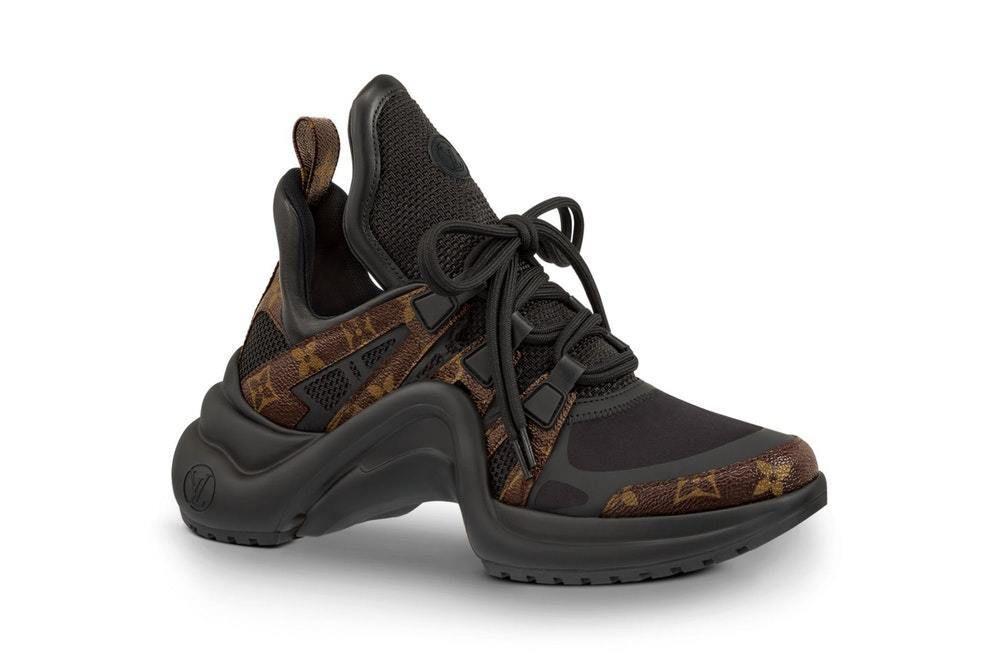 6fae3bca58bf New Louis Vuitton Archlight Sneaker Black Brown Monogram Men s Size EUR 42  US 10