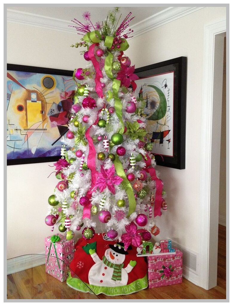 67 Reference Of Pink And White Christmas Table Decorations In 2020 White Christmas Trees Red Christmas Decor Beautiful Christmas