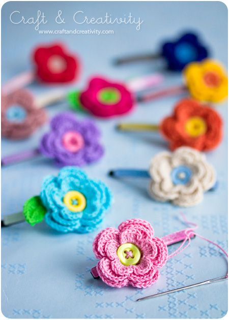 Free Patterns 6 Awesome Crochet Flower Hair Accessories Yarning