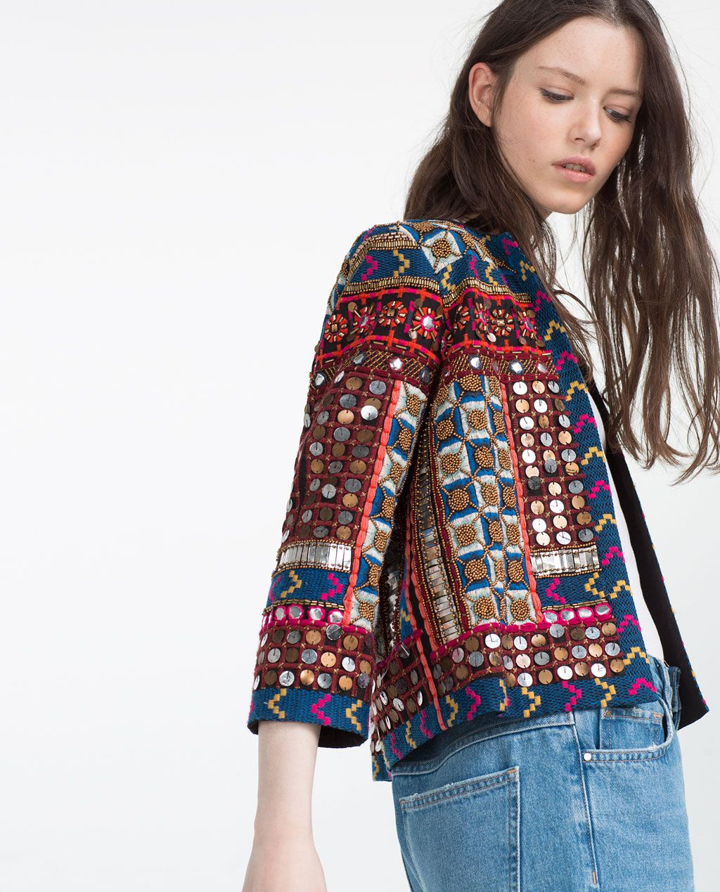 EMBROIDERED JACKET-View All-OUTERWEAR-WOMAN | ZARA United States | Zara | Pinterest | Outerwear ...