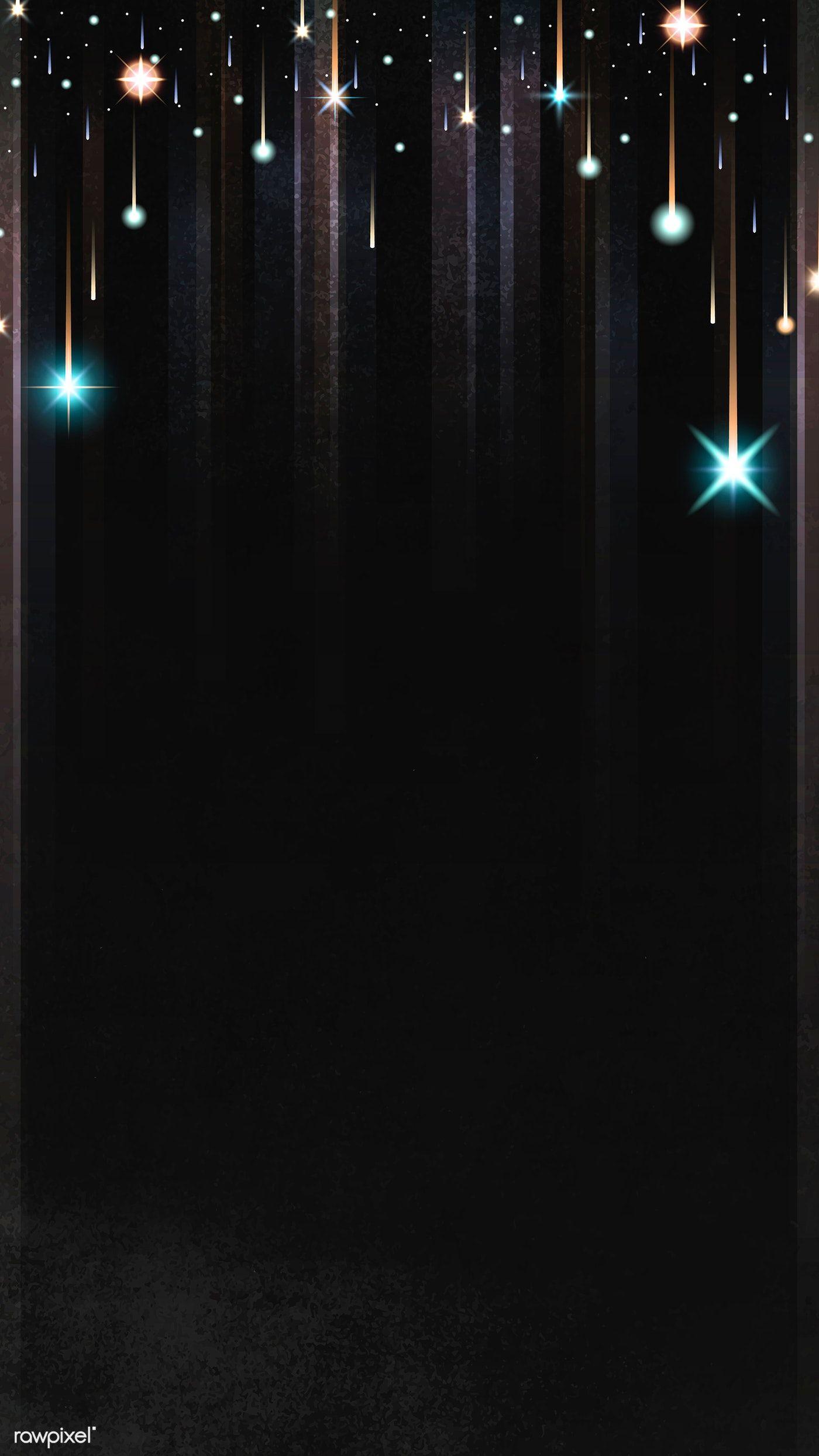 Download Premium Vector Of Gold Sparkles Patterned On Black Background Black Background Wallpaper Black Colour Background Black Background Images