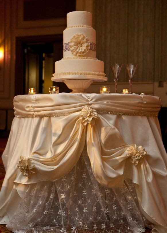 Trendy wedding ceremony cake desk decorations here comes for Wedding ceremony table decorations