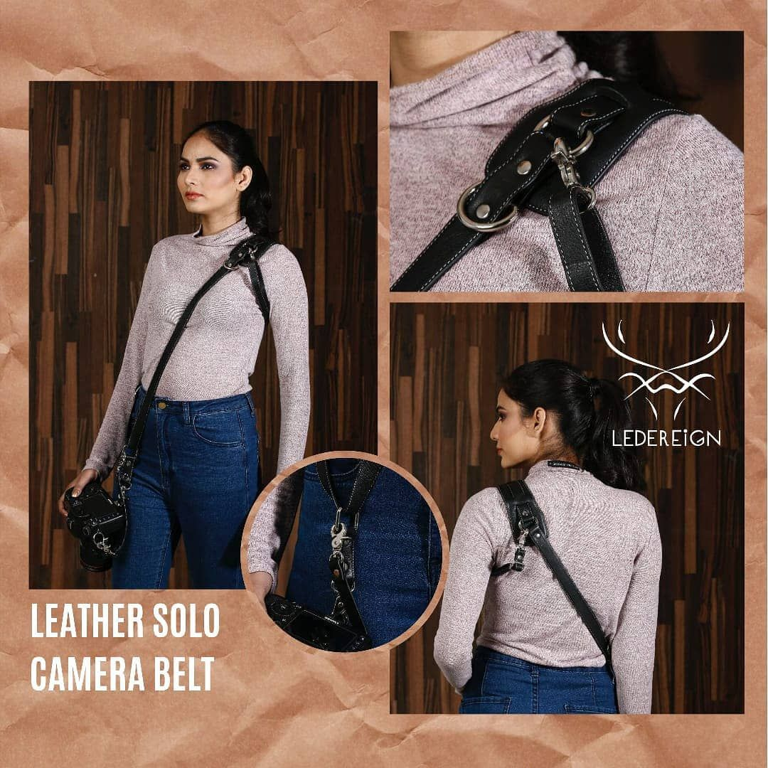 UNISEX | Comfortable Front & Back...UNISEX | Comfortable Front & Back  Extra Cushioning  Light Weight  LEATHER SOLO CAMERA STRAP  By LEDEREiGN  Variant: Smokey Black  .  For More Info:  DM on Instagram  +919717094894  www.ledereign.com  .  #leatherproducts #canondslr #photographer #dslr #photographers_of_india #destinationweddingphotographer #cinematographer #yourshotphotographer #dslrofficial #fashionphotographer #streetphotographer #portraitphotographer #photographerlife #leathercraft #camera