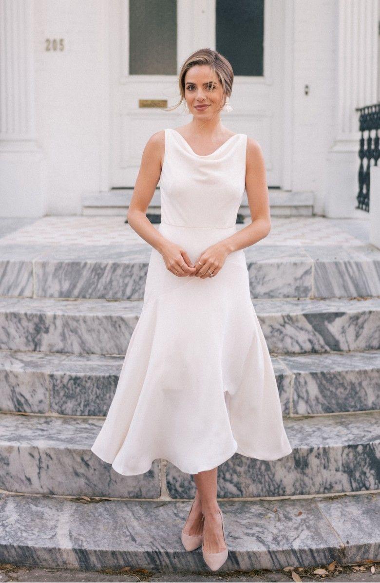 a32efebf4aa8 Juliet Cowl Neck Crepe Dress, Alternate, color, Cloud | Fashion ...