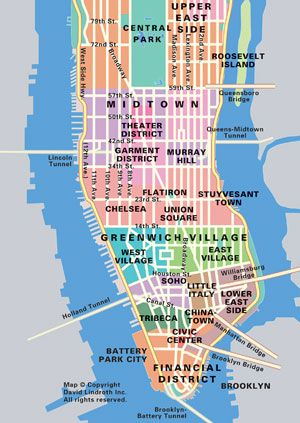 The Map Shows The Location Of New York City S Four East River