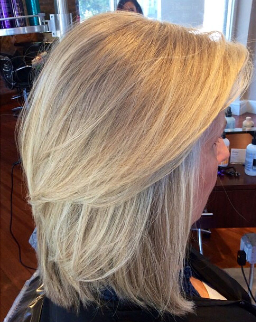 Beautiful Natural Highlights And Blowout Done At The Beauty Box In