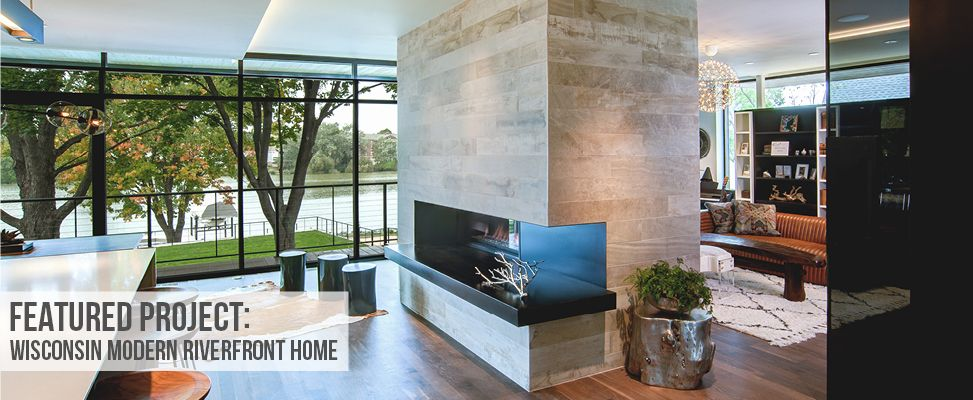 Featured Project – Wisconsin Modern Riverfront Home | Stone Source