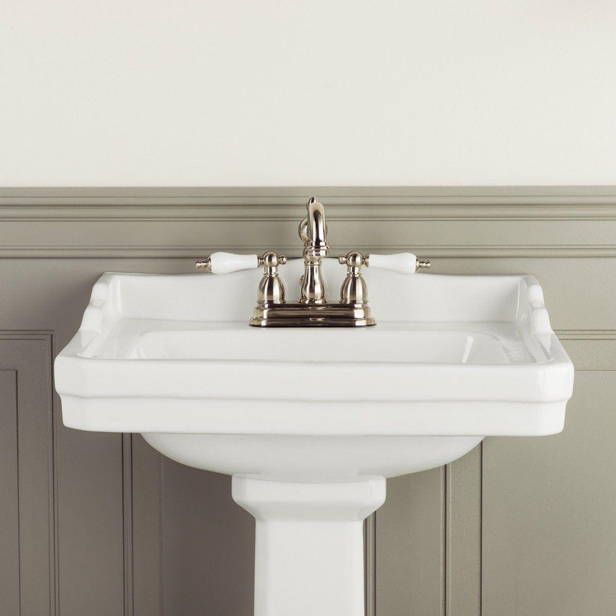 Zurich 22 Inch Pedestal Sink In 2020 Sink Pedestal Sink Faucet