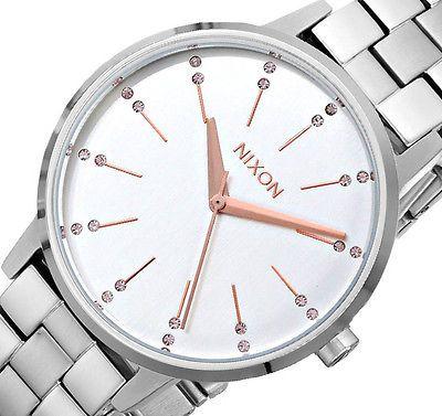 New Nixon Steel Watch Women's Bracelet Kensington Stainless A099 KJTl1cF3