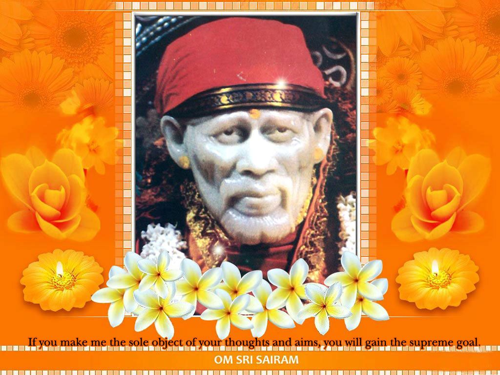 Sai Baba Wallpaper With Quotes Baba Pinterest Sai Baba