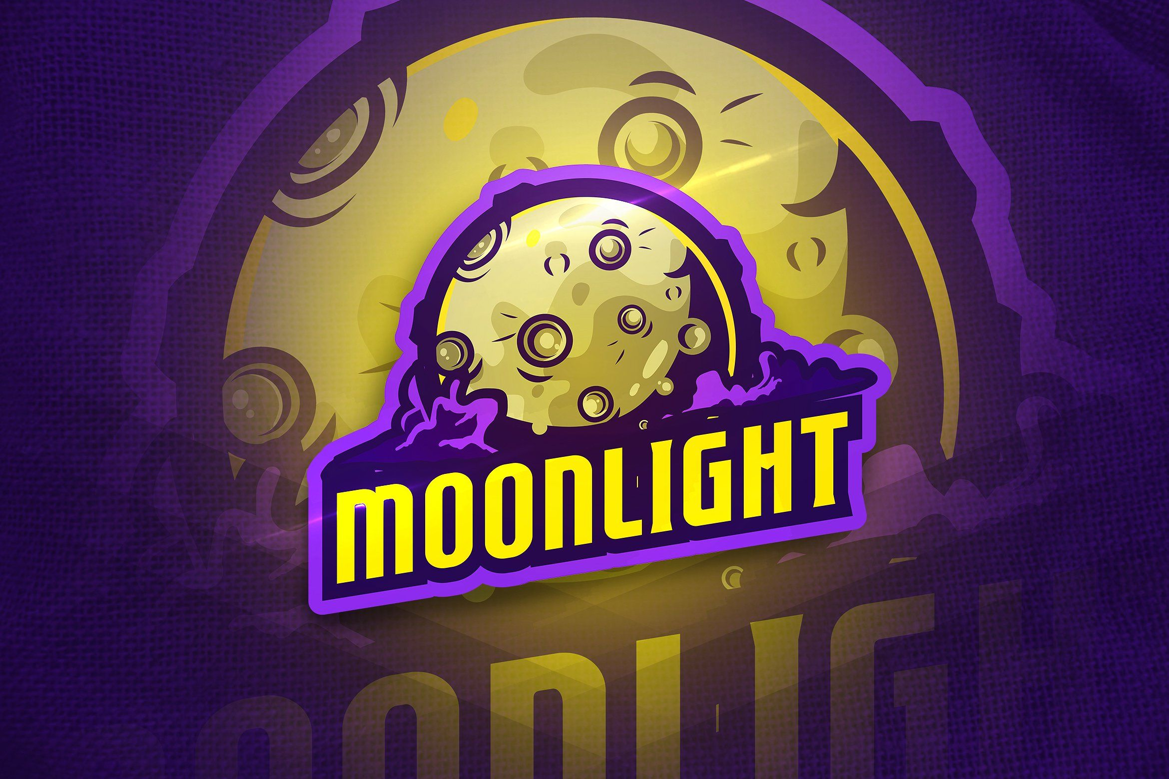 Moonlight Mascot & Esport Logo Esportes, Design de