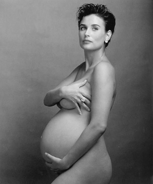 Annie Leibovitz Demi Moore Pregnant | The much-discussed ...