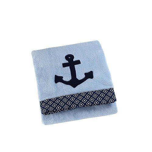 Sadie Amp Scout Anchor Applique Blanket Blue Sadie