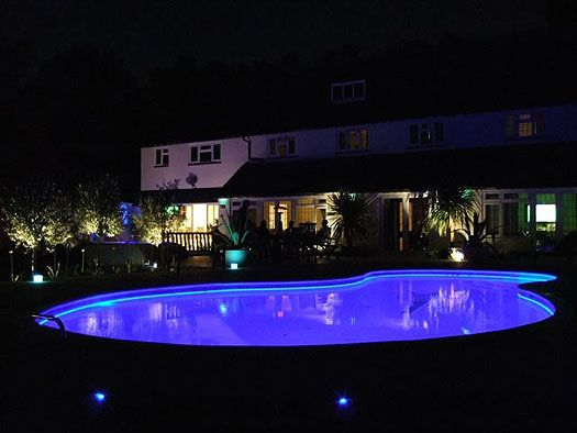 Exterior fibre optic pool lighting examples of fibre optic and led lighting from atmospheric zone