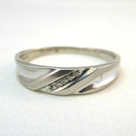 Large Mens Ring 10k White Gold Size 13 75 Diamond Accents Stamped P4sr Large Mens Rings Mens Ring Sizes Rings For Men