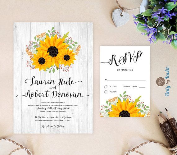 Rustic Wedding Shower Invitation With Recipe Card Printed