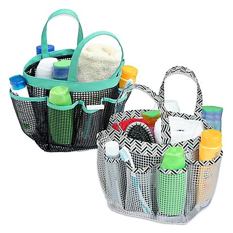 The Mesh Bath Tote Has Numerous Compartments To Sort And Carry All Your Shower Accessories