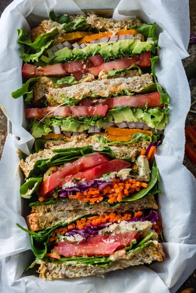 Very Vegetarian Dagwood Sandwich Simply Ceecee Vegan Recipes Veggie Sandwich Recipes Healthy Sandwich Recipes Dagwood Sandwich