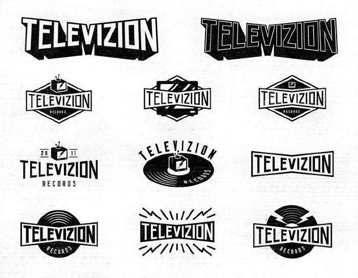Televizion Record Label Logo Retro Logos Logo Inspiration