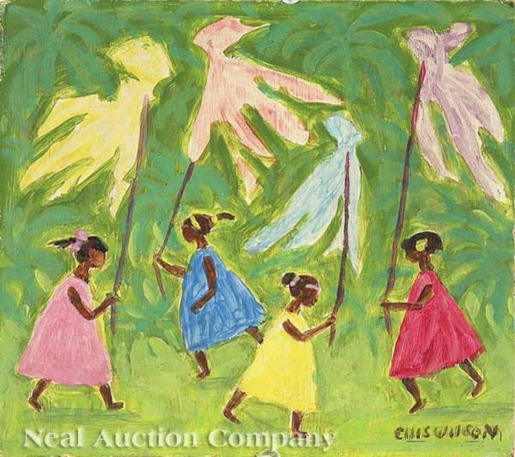 Ellis Wilson - Girls with kites