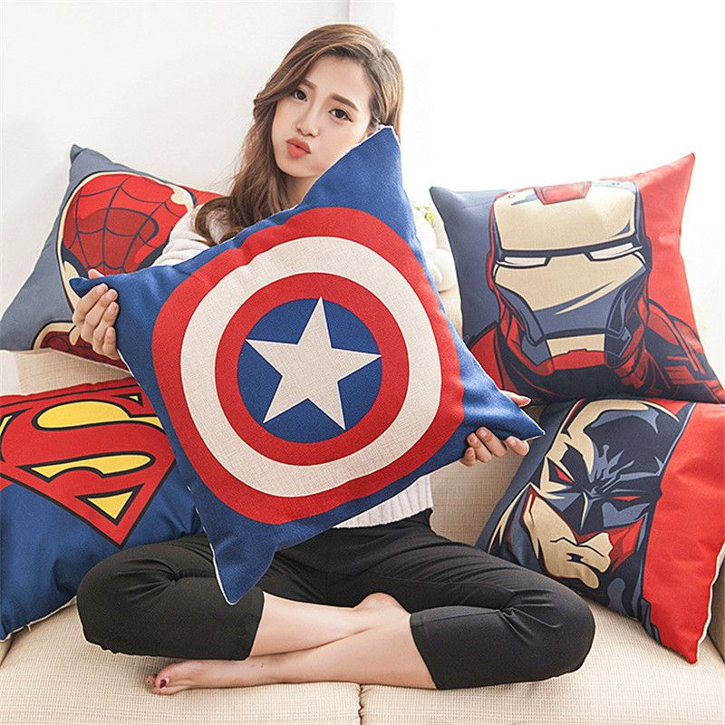 45*45cm The Avengers Hero Pillow Cover Cushion Office Nap