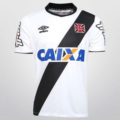 Camisa Umbro Vasco II 2014 s/nº - Branco+Preto